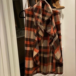 Fall flannel vest